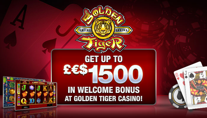 Bonus de bienvenue de 1500 € £ $ au Golden Tiger Casino